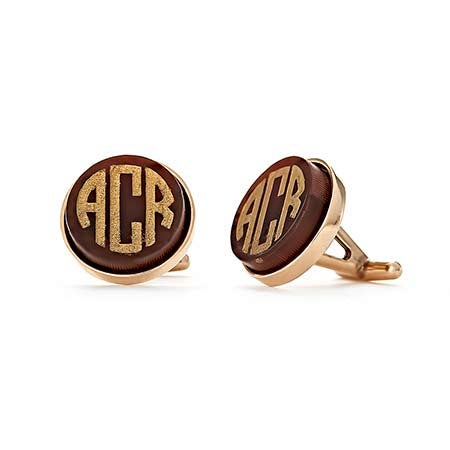 Block Monogram Acrylic Cufflinks | Eve's Addiction®