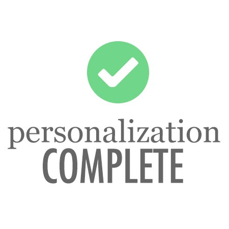 NO RETURNS ON PERSONALIZED ITEMS