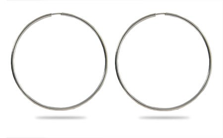 Celebrity Inspired Continuous Hoop Earrings - 2.5 Inch | Eve's Addiction®