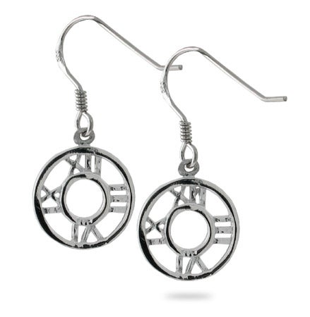Designer Style Roman Numeral Round Dangle Earrings | Eve's Addiction