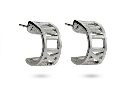 Designer Style Roman Numeral Hoop Earrings | Eve's Addiction®