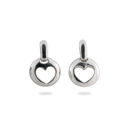 Designer Style Stencil Heart Earrings