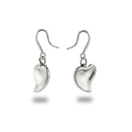 Designer Style Carved Heart Earrings