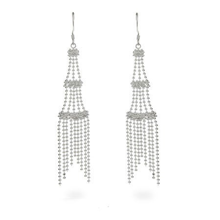 Designer Style Sterling Silver Chandelier Earrings | Eve's Addiction®