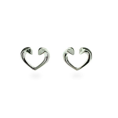 Designer Style Tenderness Heart Stud Earrings | Eve's Addiction®
