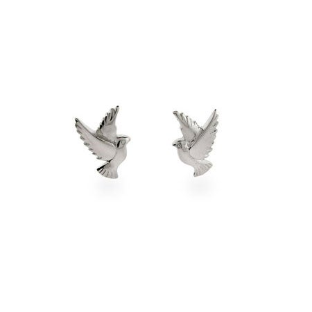 Sterling Silver Dove Earrings | Eve's Addiction®