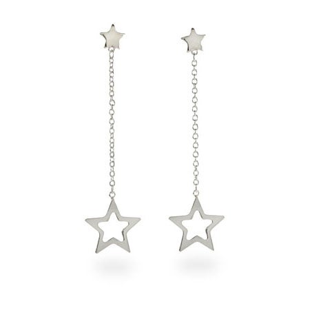 Designer Style Double Star Drop Earrings | Eve's Addiction®