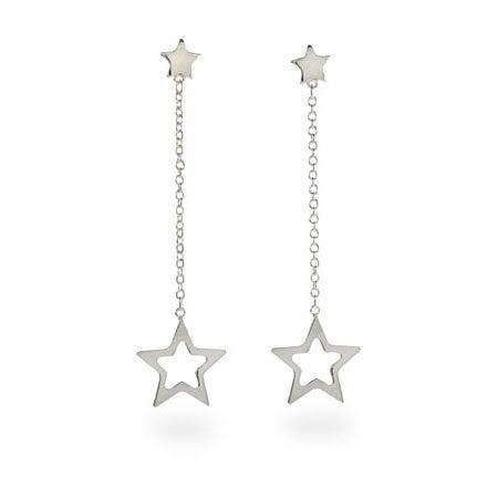 Designer Style Double Star Drop Earrings | Eve's Addiction®