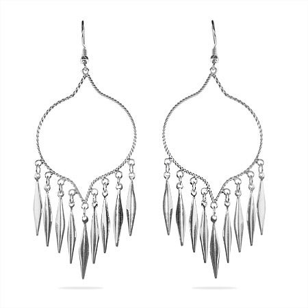 Western Style Sterling Silver Chandelier Earrings | Eve's Addiction®
