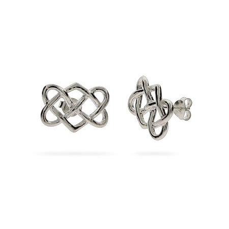 Celtic Knot Interwoven Hearts Earrings | Eve's Addiction