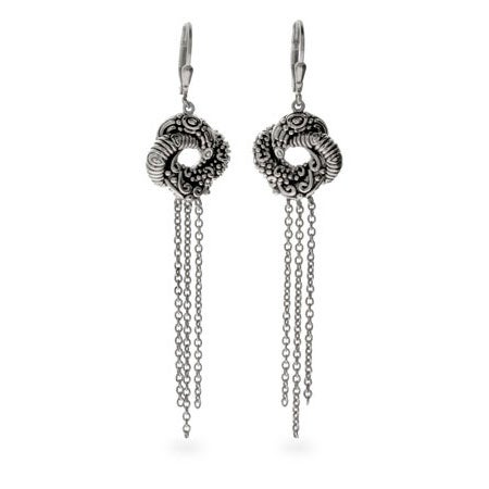 Algerian Love Knot Sterling Silver Earrings | Eve's Addiction®
