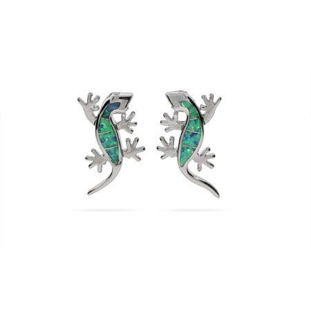 Opal Lizard Earrings