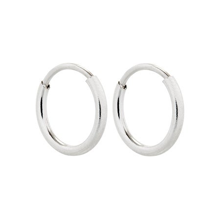 Simple Silver Hoop Earrings | Eve's Addiction®