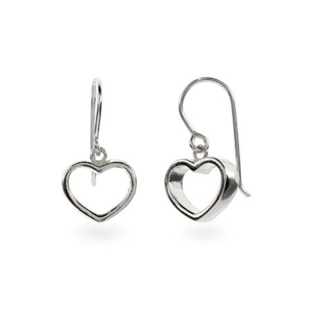 Designer Style Geometric Heart Earrings | Eve's Addiction