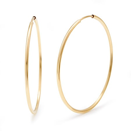 14K Gold Filled 1.5 Inch Hoop Earrings | Eve's Addiction®