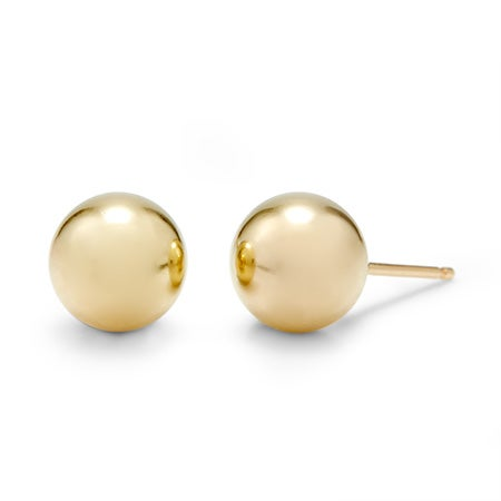 Designer Style 8mm 14K Gold Filled Bead Earrings | Eve's Addiction®