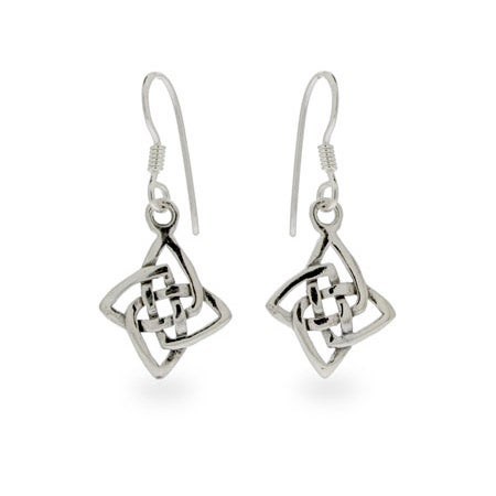 Sterling Silver Celtic Knot Dangle Earrings | Eve's Addiction®