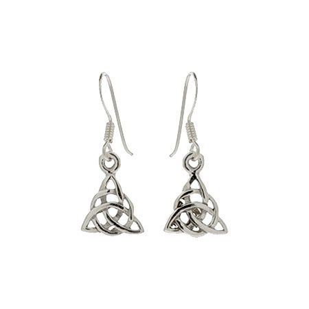 Sterling Silver Celtic Trinity Earrings | Eve's Addiction®