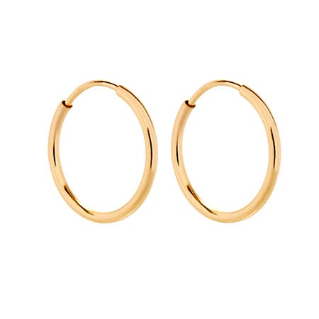 Mens 14K Gold Filled Half Inch Hoop Earrings | Eve's Addiction®