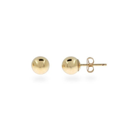 Mens 6mm 14K Gold Filled Bead Earrings | Eve's Addiction®