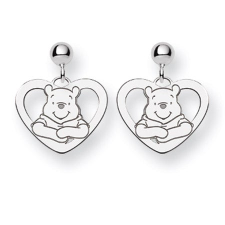 Sterling Silver Winnie The Pooh Earrings - Clearance Final Sale