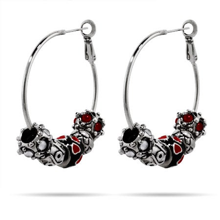 Oriana Bead Hoop Earrings - Pandora Bead Compatible | Eve's Addiction®
