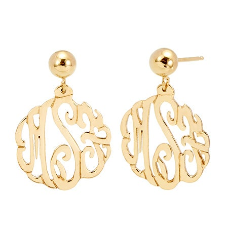 Gold Vermeil Custom Monogram Earrings | Eve's Addiction®