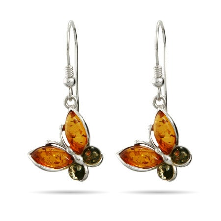 Genuine Baltic Amber Butterfly Earrings | Eve's Addiction®