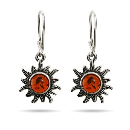 Baltic Amber Leverback Sun Earrings | Eve's Addiction®