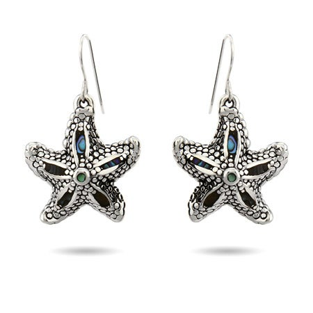 Abalone Shell Dangle Starfish Earrings | Eve's Addiction®