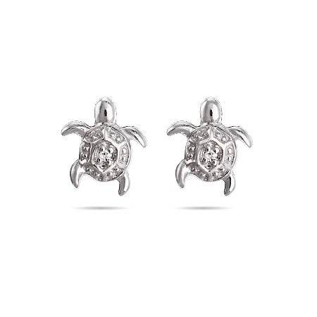 Petite Turtle Stud Earrings for Kids | Eve's Addiction®