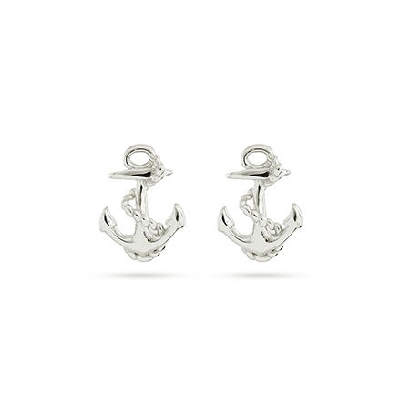 Anchor Stud Sterling Silver Earrings| Eve's Addiction®