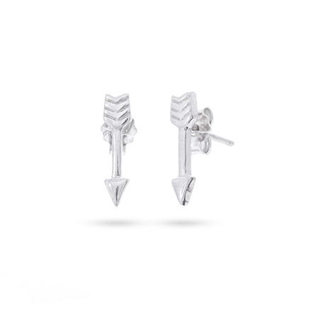 Petite Sterling Silver Arrow Earrings | Eve's Addiction®