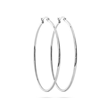 "Stainless Steel 2"" Tube Style Hoop Earrings 