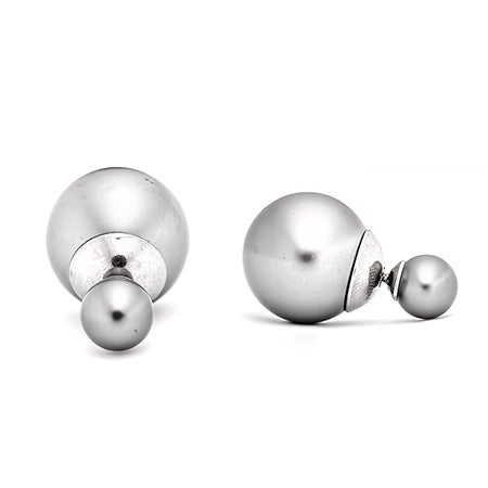 Gray Pearl 360 Studs Earrings