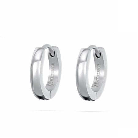 Stainless Steel Petite Flat Huggy Earrings | Eve's Addiction®