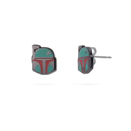 Star Wars Boba Fett Enamel Studs in Stainless Steel