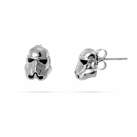 Star Wars 3D Stormtrooper Stud Earrings in Stainless Steel