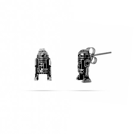 Star Wars R2-D2 3D Stud Earrings in Stainless Steel