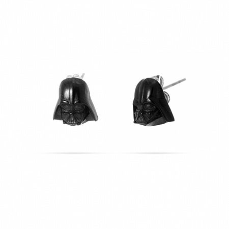 Darth Vader Stud Earrings - 3D Design in Stainless Steel