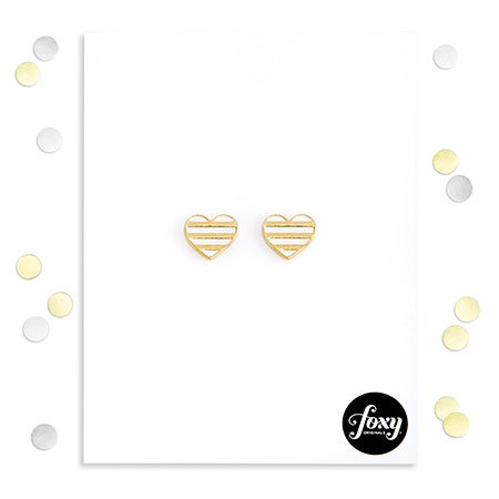 Foxy Emma Earrings in Gold