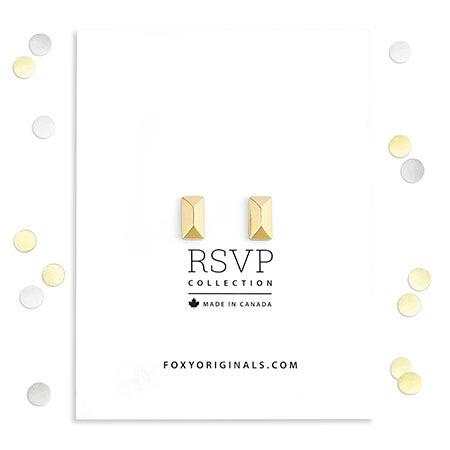 Foxy Vesta Earrings in Gold