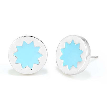 House of Harlow Blue Sunburst Stud Earrings | Eves Addiction