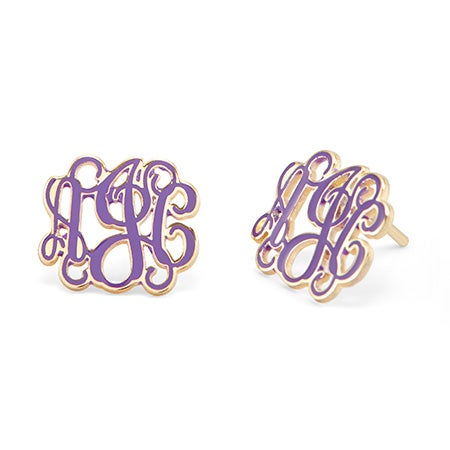 Gold Script Custom Made Monogram Studs | Eve's Addiction