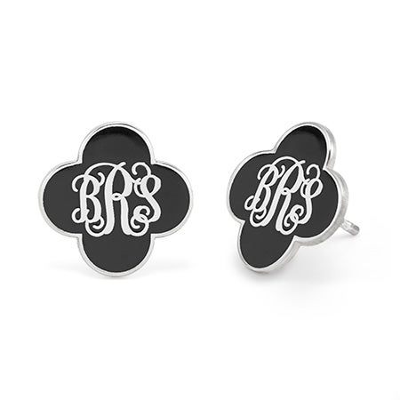 Custom Made Enamel Monogram Earrings | Eve's Addiction