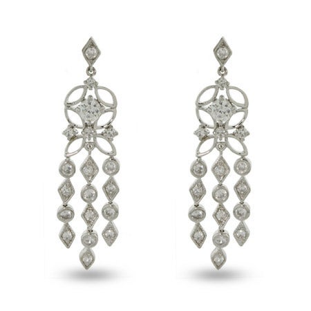 Designer Style CZ Sway Chandelier Earrings | Eve's Addiction®