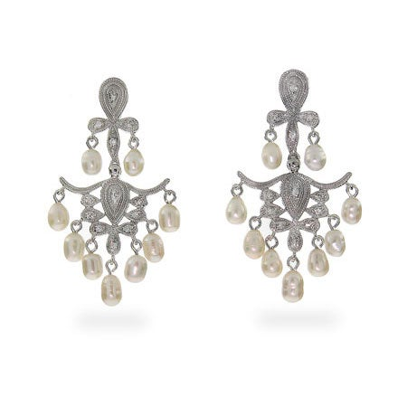 Freshwater Pearl Chandelier Earrings | Eve's Addiction