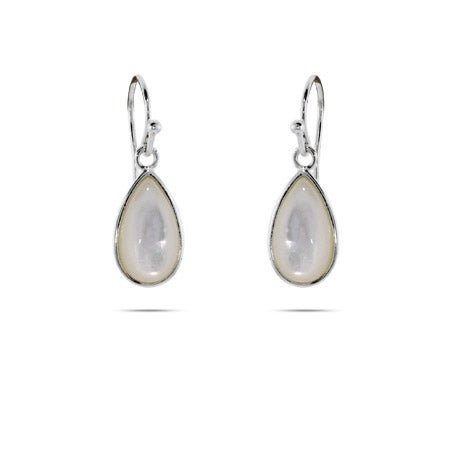 Mother of Pearl Pear Drop Earrings | Eve's Addiction®