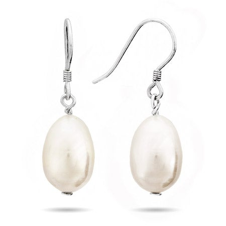 Pearl Drop Sterling Silver Earrings | Eve's Addiction®