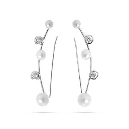 CZ Freshwater Pearl Ear Crawlers | Eve's Addiction®